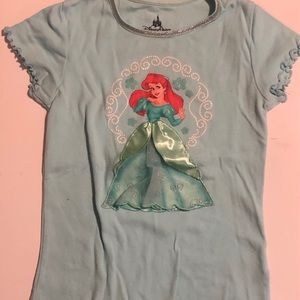Girls little mermaid short sleeve tee